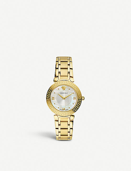 86f77bdfb98 VERSACE V16070017 Daphnis PVD gold plated and mother-of-pearl watch
