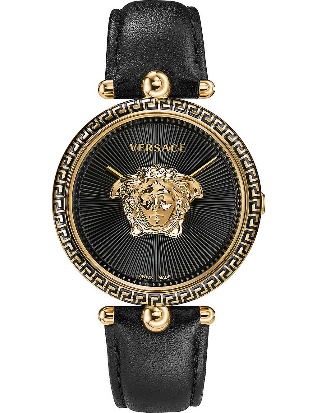 648044f6a6b0 VERSACE - Palazzo Empire yellow-gold and leather watch