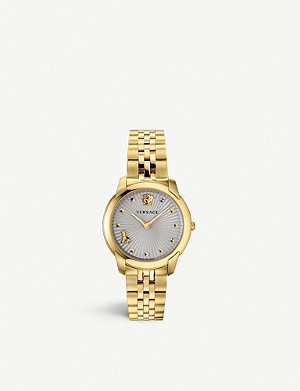 VERSACE VELR00719 Audrey V yellow gold-coated stainless-steel quartz watch