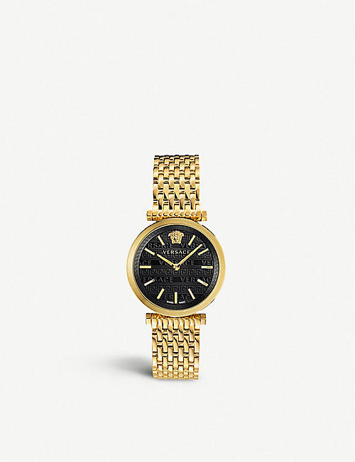 VERSACE: VELS00819 V-Twist gold-toned stainless steel watch