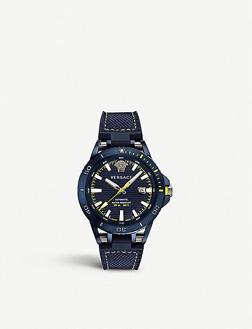 VERSACE Sport Tech steel and textile-strap watch