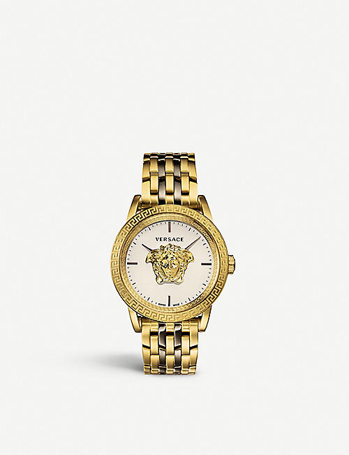 47071af53d0 VERSACE VERD00418 Palazzo Empire silver and yellow gold-coated  stainless-steel quartz watch