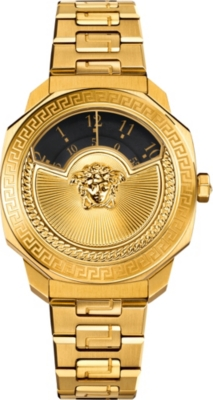 03cb3d4a VERSACE - VQU05 0015 Dylos gold-toned stainless steel watch ...
