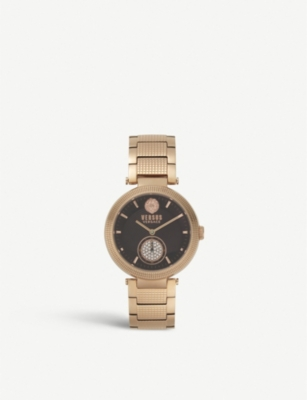 VERSUS VSP791718 Star Ferry rose gold-plated and Swarovski crystal watch
