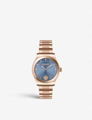 VERSUS VSPBU0918 Durbanville rose-gold plated stainless steel watch