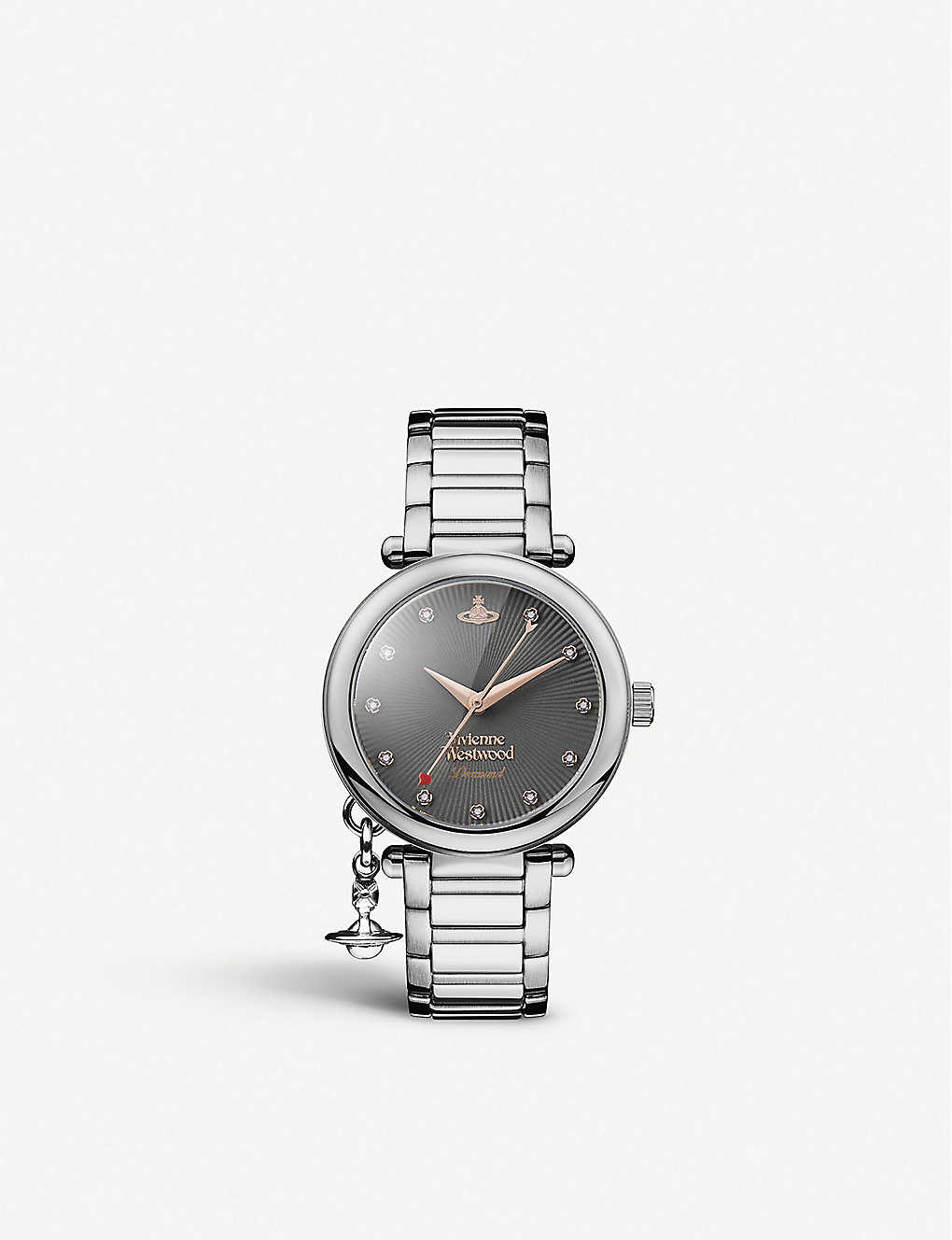 VIVIENNE WESTWOOD: VV006GNSL Mother Orb stainless steel watch