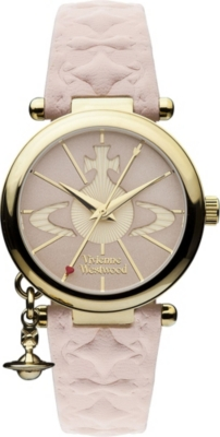 VIVIENNE WESTWOOD VV006PKPK gold-toned leather watch