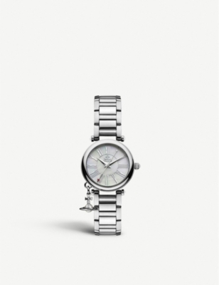 VIVIENNE WESTWOOD VV006PSLSL Mother Orb stainless steel watch