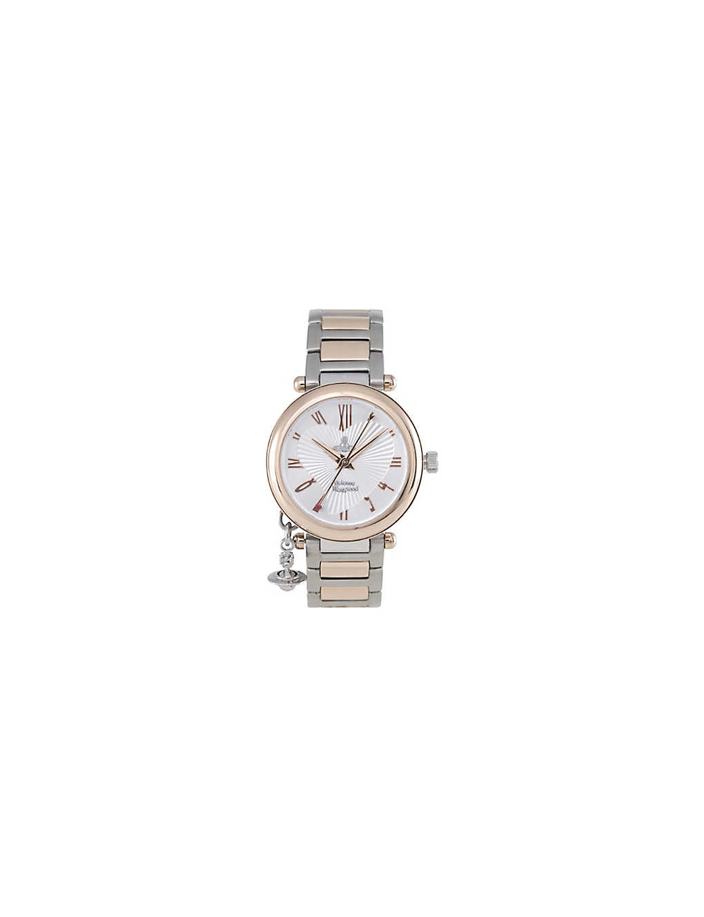 b31ce8866909 VIVIENNE WESTWOOD - Orb rose gold and silver ladies' watch ...