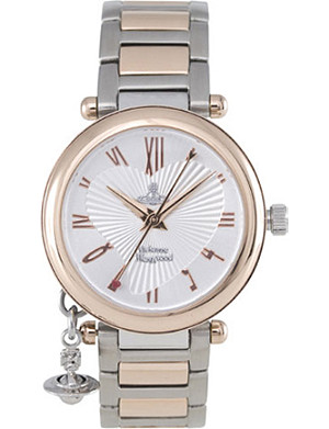 VIVIENNE WESTWOOD Orb rose gold and silver ladies' watch