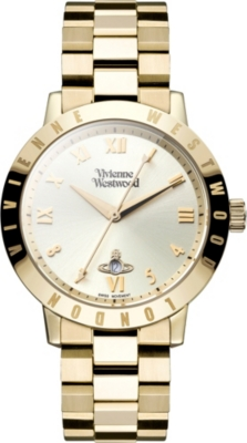 VIVIENNE WESTWOOD VV152GDGD gold-toned stainless steel watch