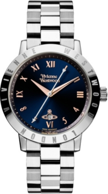 VIVIENNE WESTWOOD VV152NVSL Bloomsbury stainless steel watch