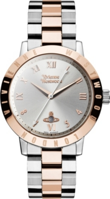 VIVIENNE WESTWOOD VV152RSSL stainless steel and PVD rose gold-plated watch