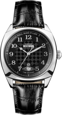 VIVIENNE WESTWOOD VV175SLBK Hampstead stainless steel and leather watch
