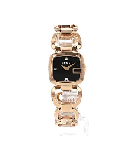 0f3b269e6b2 YA125512 G-Gucci Collection pink-gold PVD watch - Black ...
