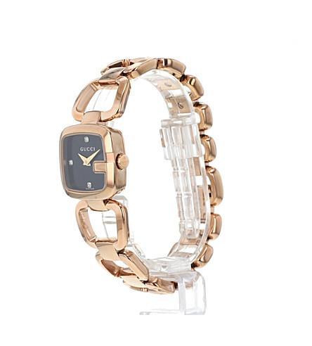 013e9377da7 ... YA125512 G-Gucci Collection pink-gold PVD watch - Black ...