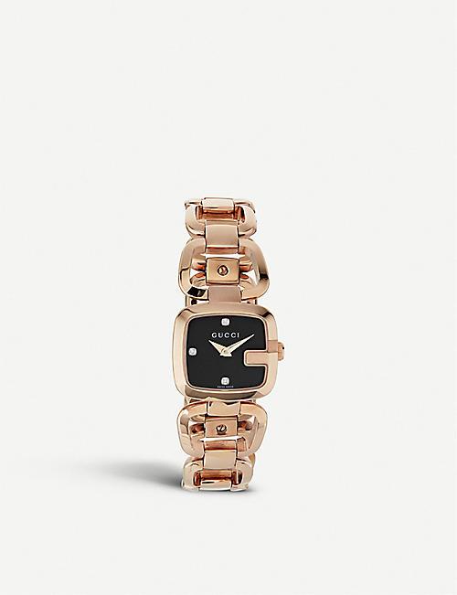 5e29937b37d GUCCI - YA125512 G-Gucci Collection pink-gold PVD watch
