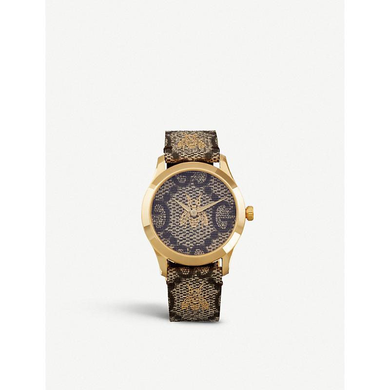 4aefba3f332 Gucci Ya1264068 G-Timeless Gold Pvd Watch