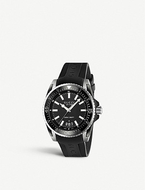 8a2d1405d87 YA1264076 G-Timeless stainless steel bracelet watch · GUCCI YA136204 Dive  stainless steel and rubber watch