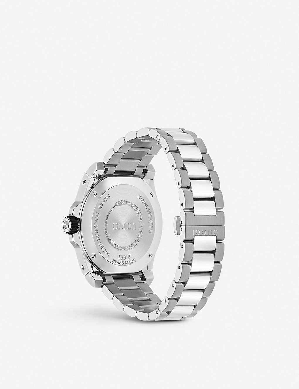 a80f7714e02 GUCCI - YA136218 Gucci Dive and stainless steel watch