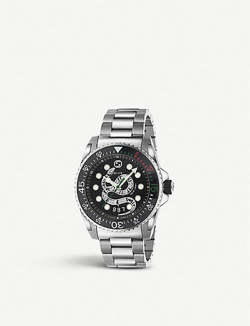GUCCI YA136218 Gucci Dive and stainless steel watch