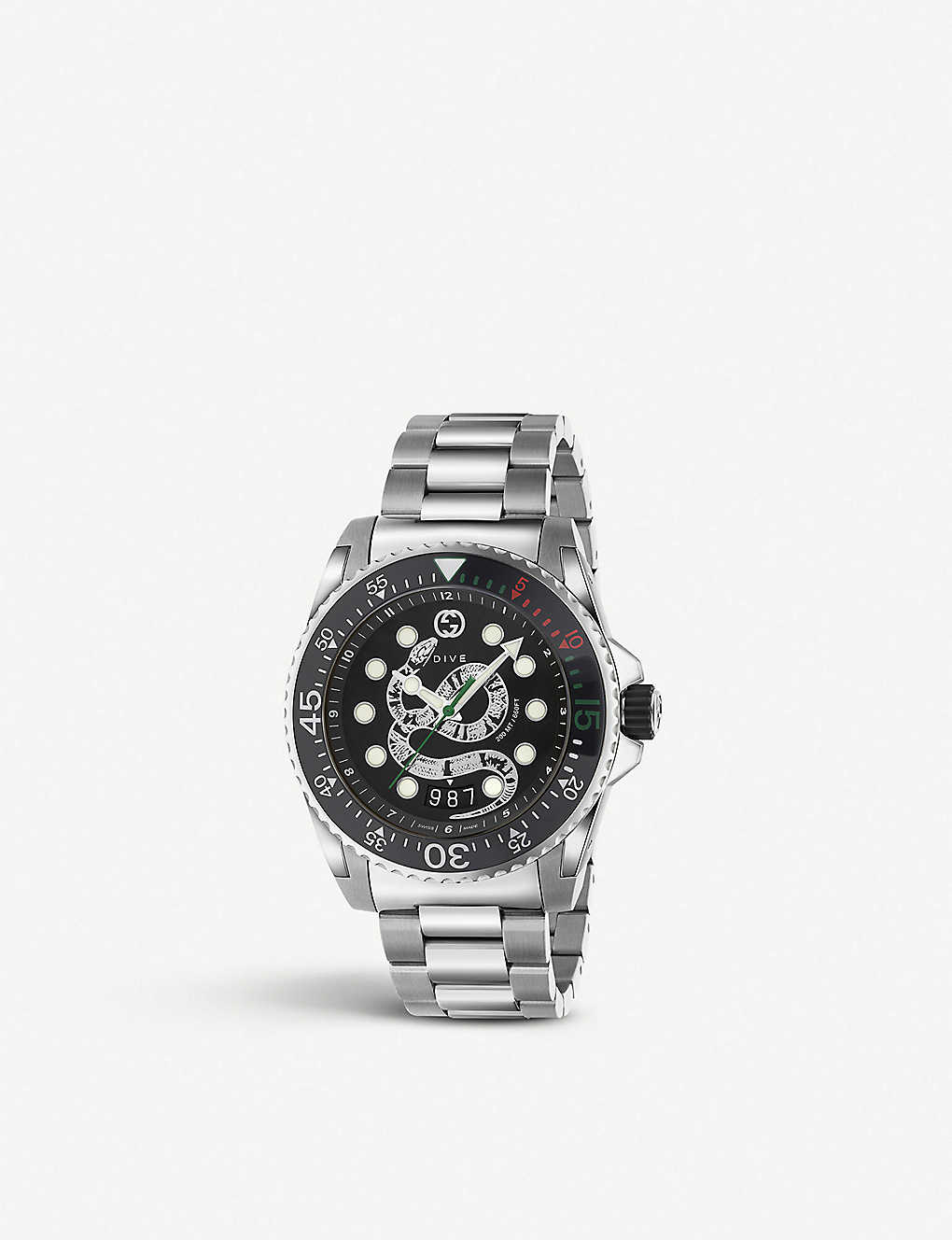 01f5ab87630 GUCCI - YA136218 Gucci Dive and stainless steel watch