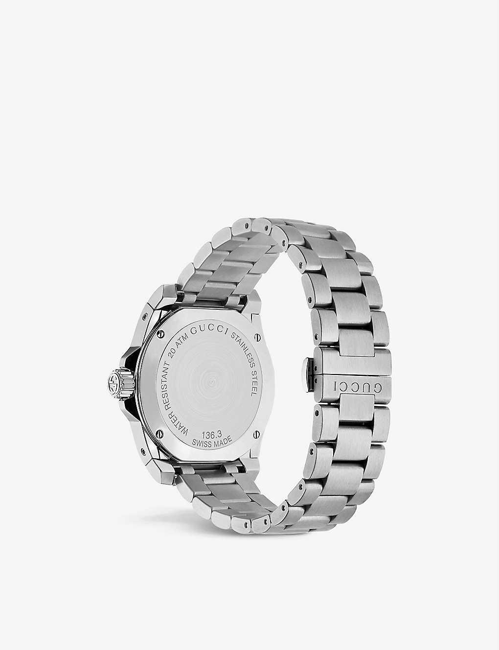 ee401ac0ddc ... YA136301 Dive stainless steel watch - Black ...