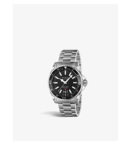 b9bd594a0a5 GUCCI YA136301 Dive stainless steel watch (Black
