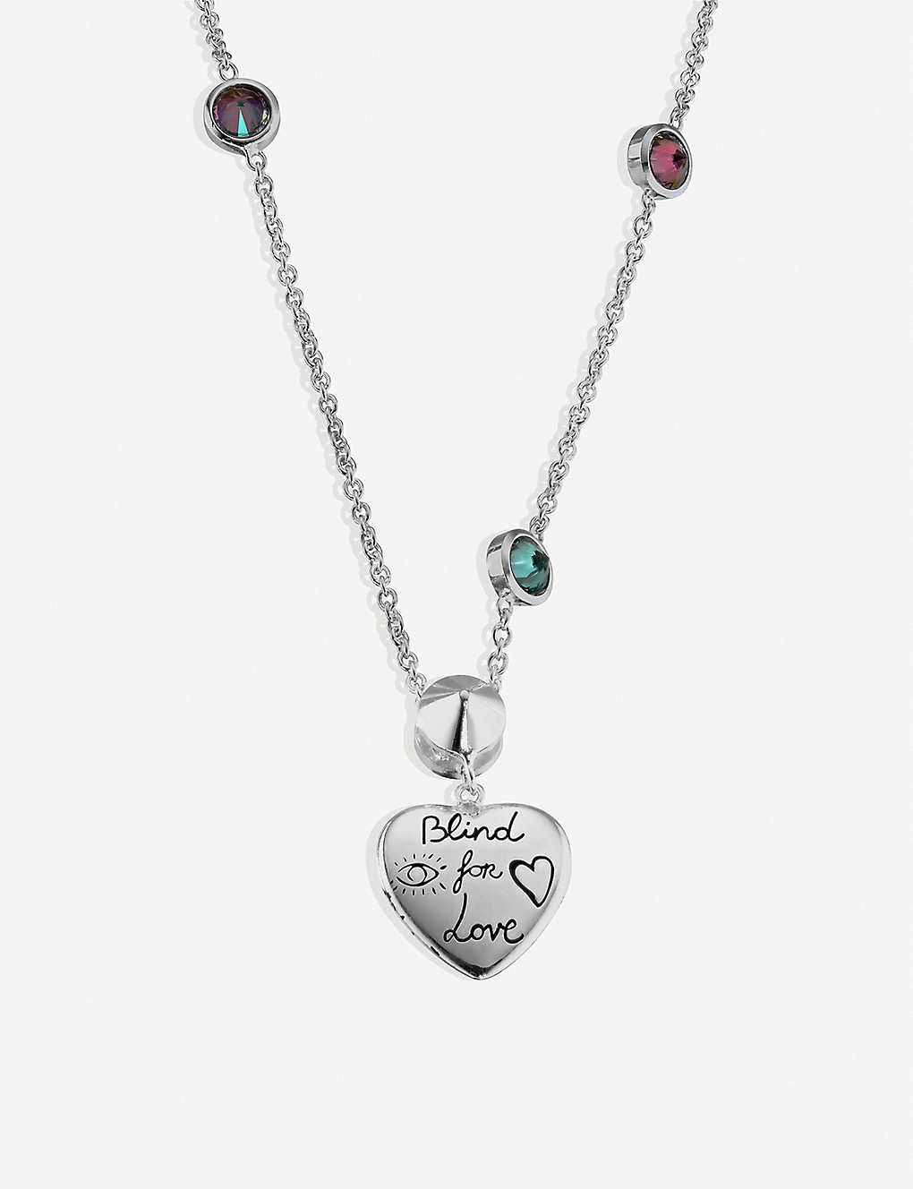 147bb8b8 Blind for Love sterling silver and multi-coloured zirconia necklace ...