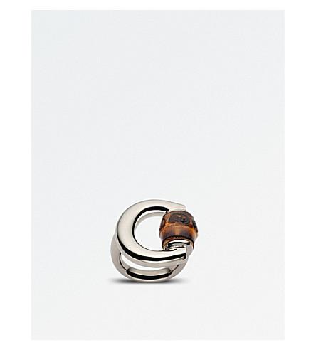 888cce2ca GUCCI - Horsebit bamboo-detailing sterling silver ring   Selfridges.com