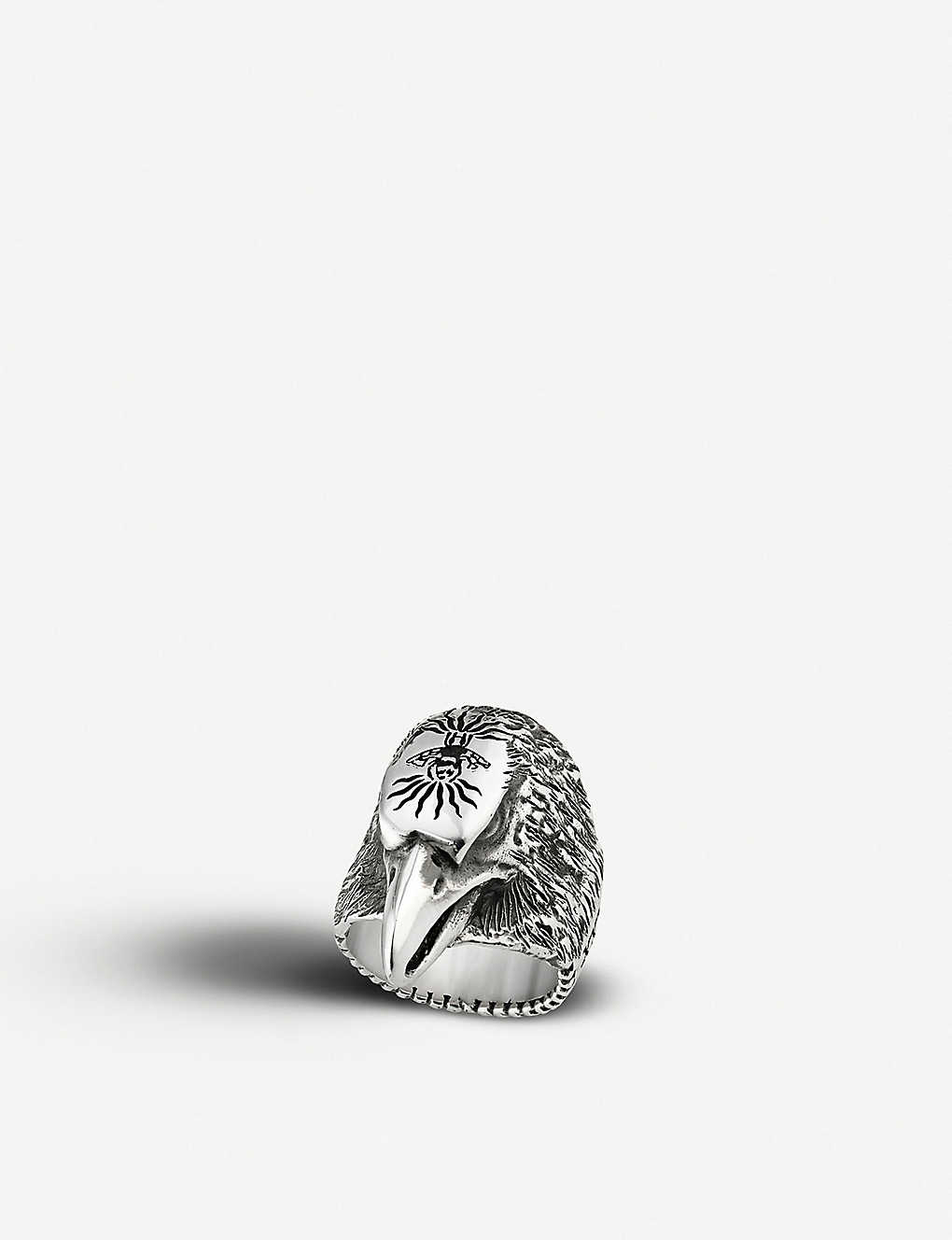 642ce62ef GUCCI - Angry Forest eagle head silver ring | Selfridges.com