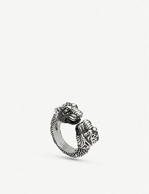 GUCCI Gucci Garden tiger sterling silver ring