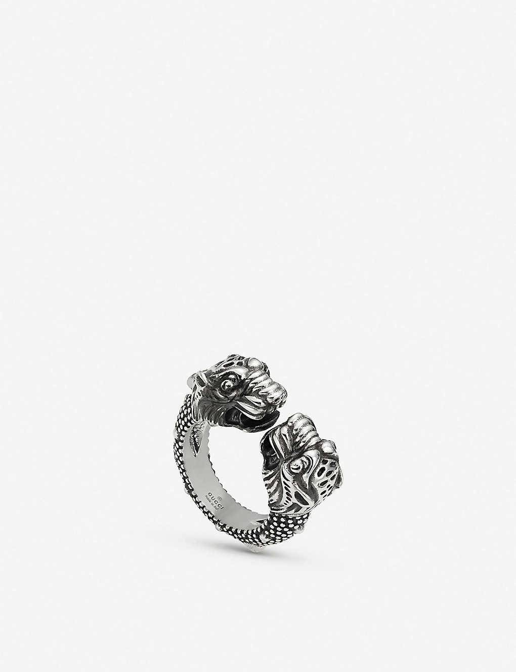 003f94bd37be2 GUCCI - Gucci Garden tiger sterling silver ring