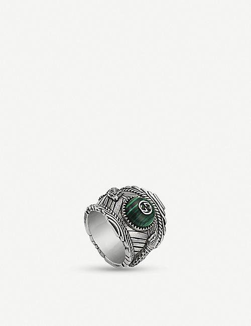 c80496707f026 GUCCI Gucci Garden sterling silver and resin ring