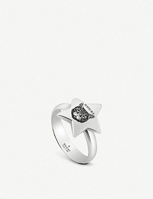 GUCCI Blind For Love star shape sterling silver ring