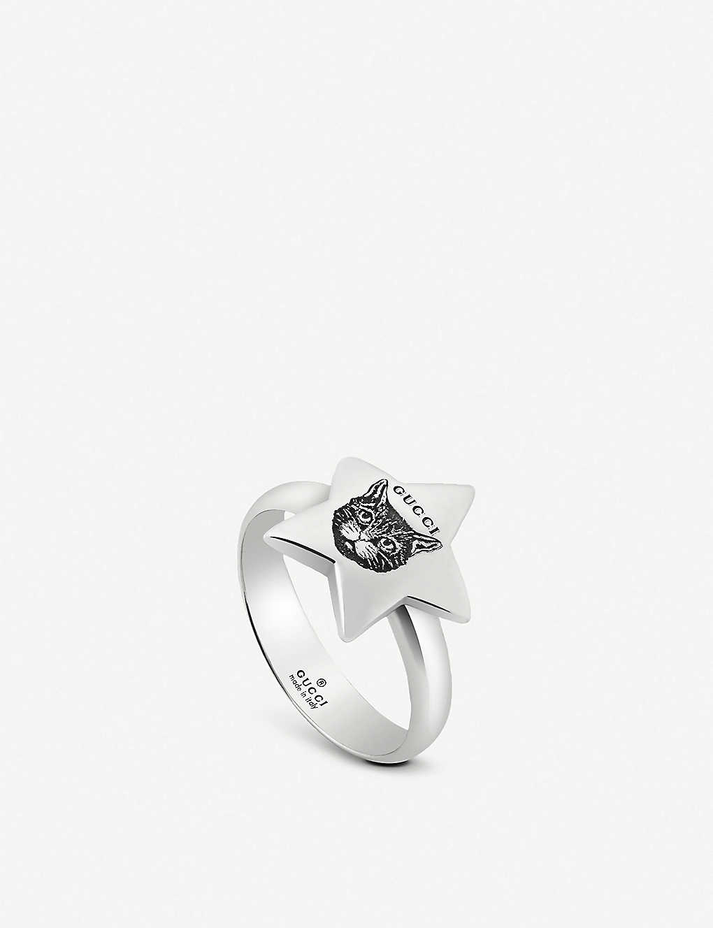 012c634eb GUCCI - Blind For Love star shape sterling silver ring | Selfridges.com