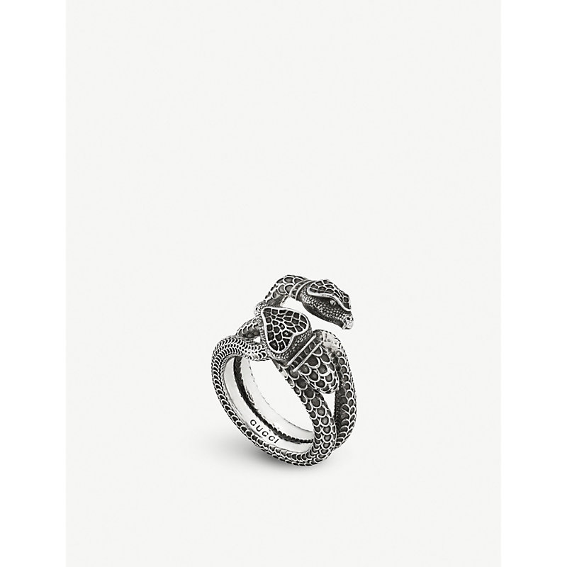 GUCCI   Gucci Garden Snake Sterling Silver Ring   Goxip