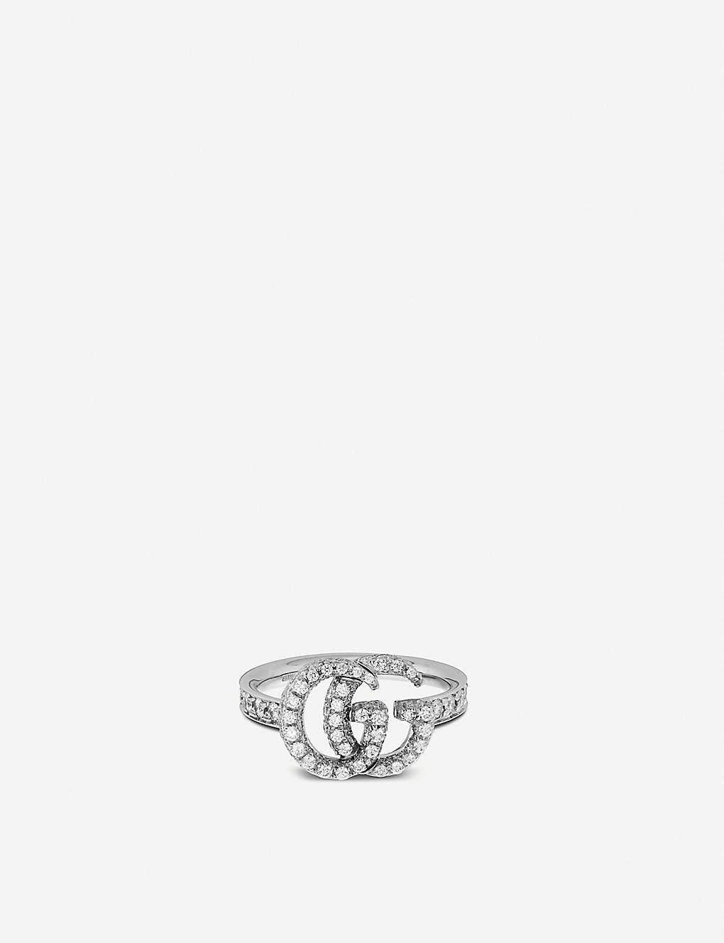 e4a27c25b GUCCI - GG Running 18ct white-gold and diamonds ring | Selfridges.com