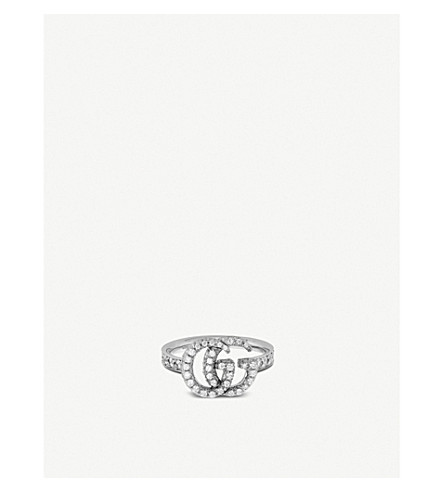 dc88fa50837 GUCCI - GG Running 18ct white-gold and diamonds ring