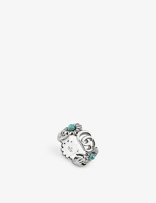 88216186844 GUCCI - GG Marmont floral-motif gemstone