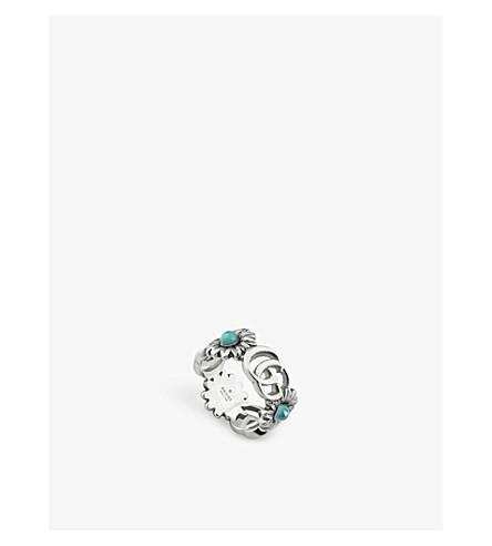 fec84388275 GUCCI - GG Marmont floral-motif gemstone