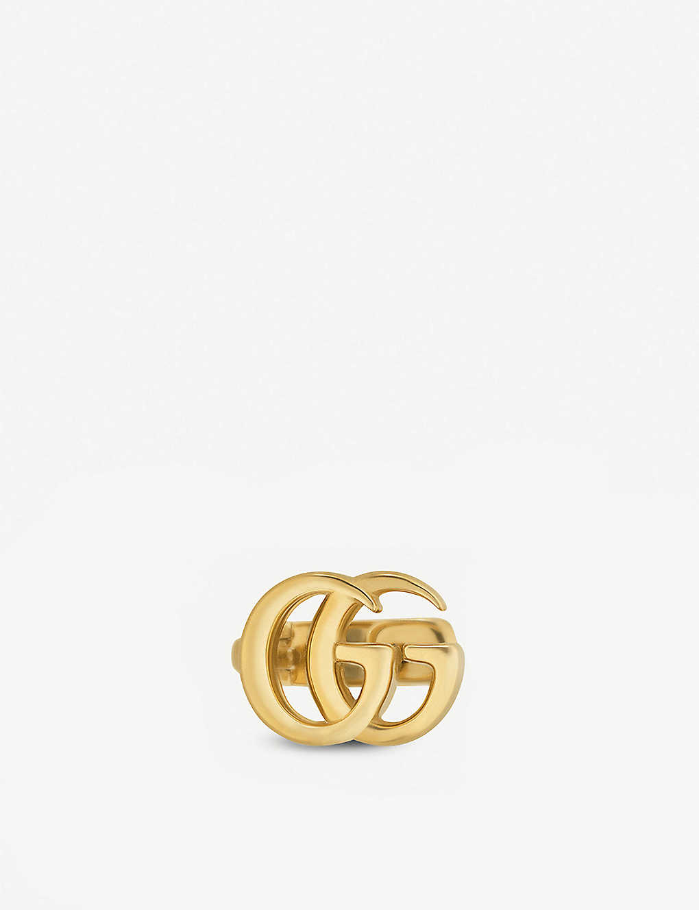 GUCCI 18CT YELLOW GOLD TISSUE STUD EARRINGS