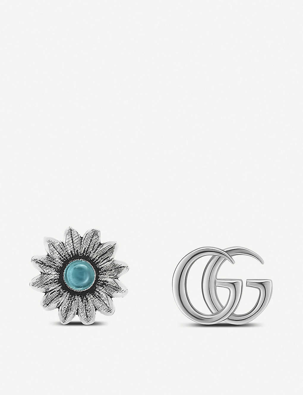 d10105c5d GUCCI - GG Marmont gemstone and sterling silver stud earrings ...