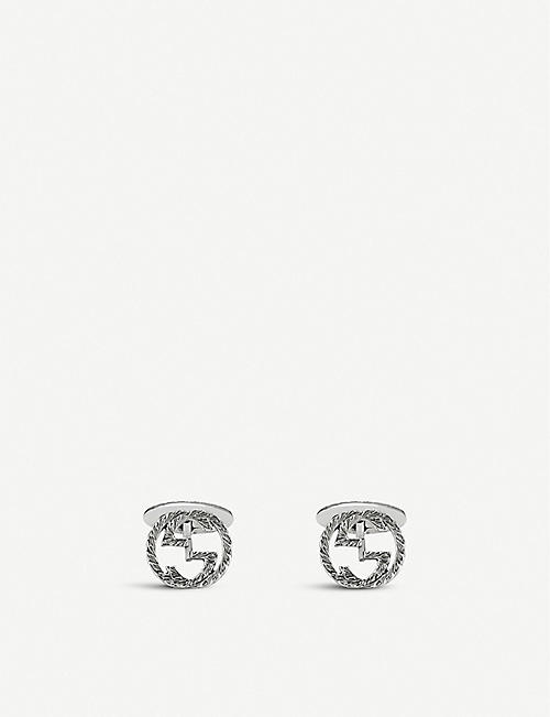 GUCCI Interlocking G sterling silver cufflinks