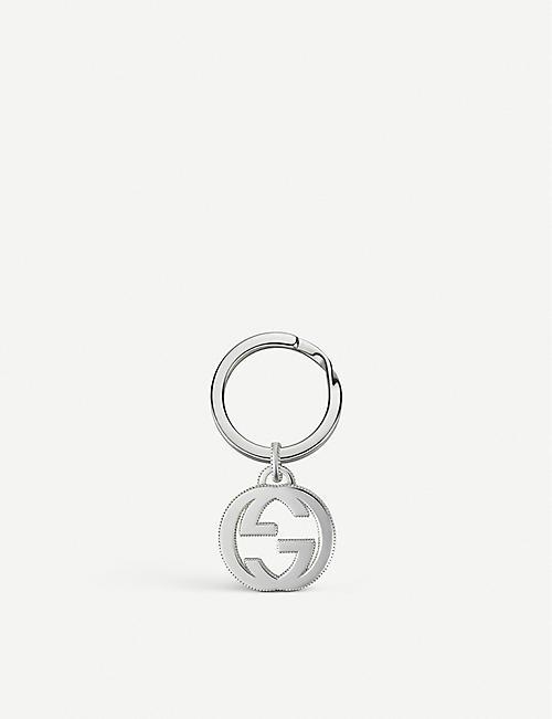 cd04138d963 GUCCI Interlocking GG sterling silver keyring