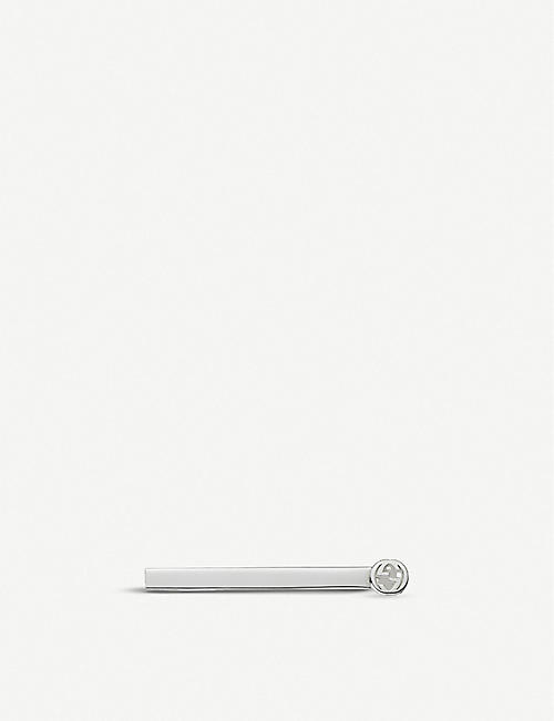GUCCI Interlocking G sterling silver tie bar