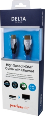 PEERLESS Delta Series 1.5m High Speed HDMI Cable with Ethernet