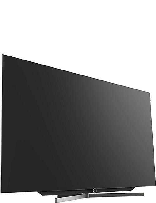LOEWE TECHNOLOGY 77in Bild.7 4K OLED TV with table stand in Graphite Grey