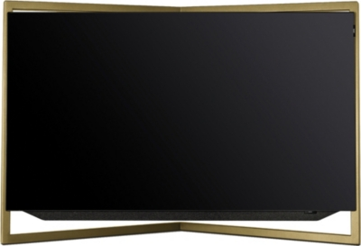 LOEWE TECHNOLOGY 55in Bild.9 4K OLED TV with table stand in Amber