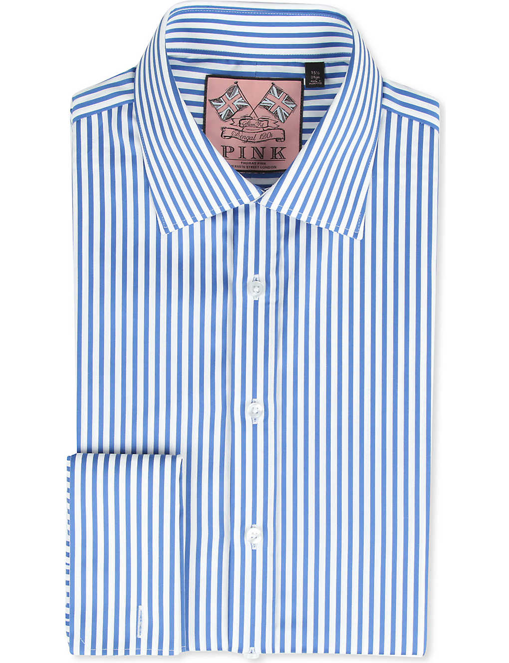9b15a47f THOMAS PINK - Algernon slim-fit double-cuff shirt | Selfridges.com